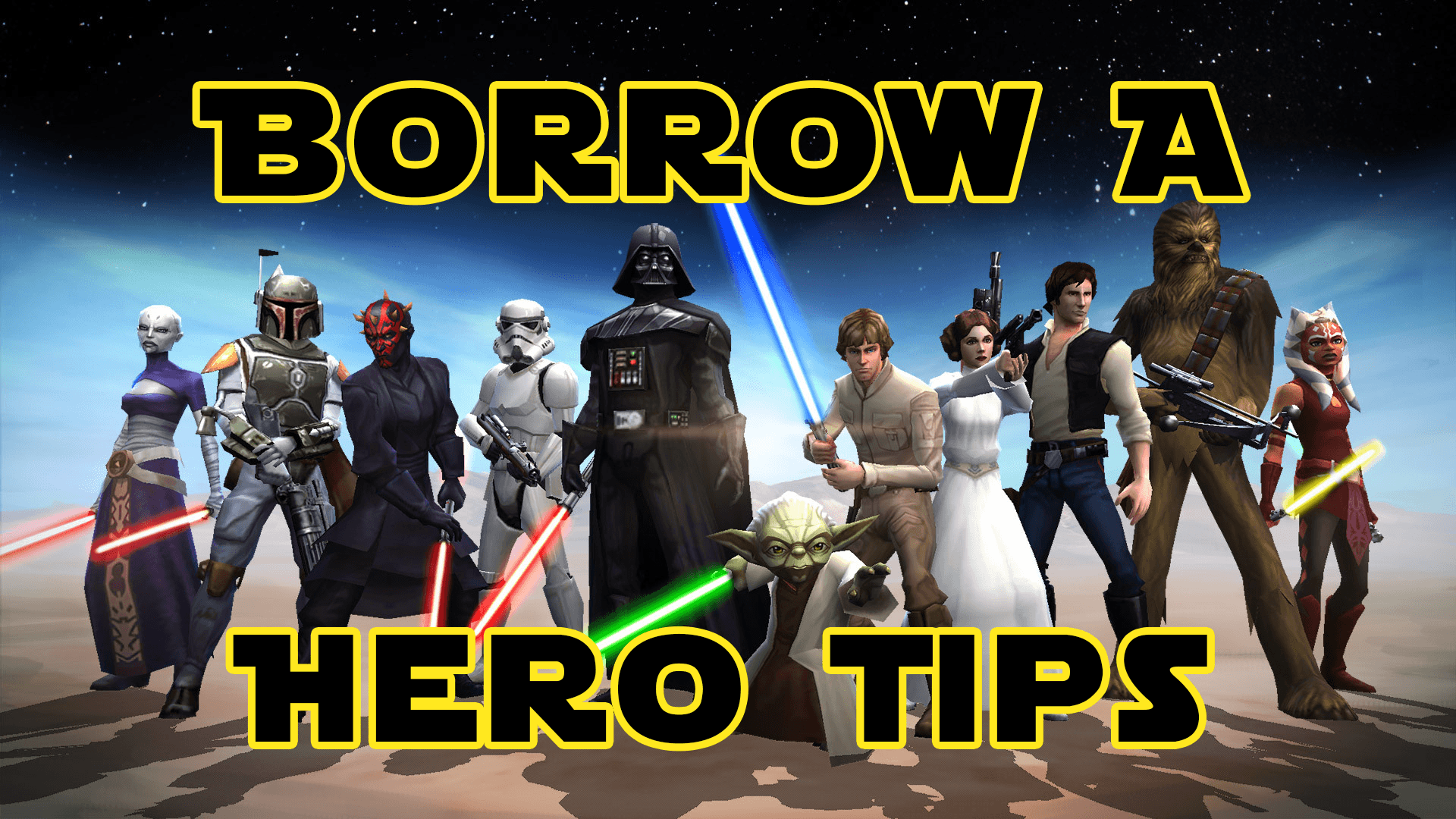 How to repeatedly borrow a hero in SWGOH – Ally List Tips & Tricks