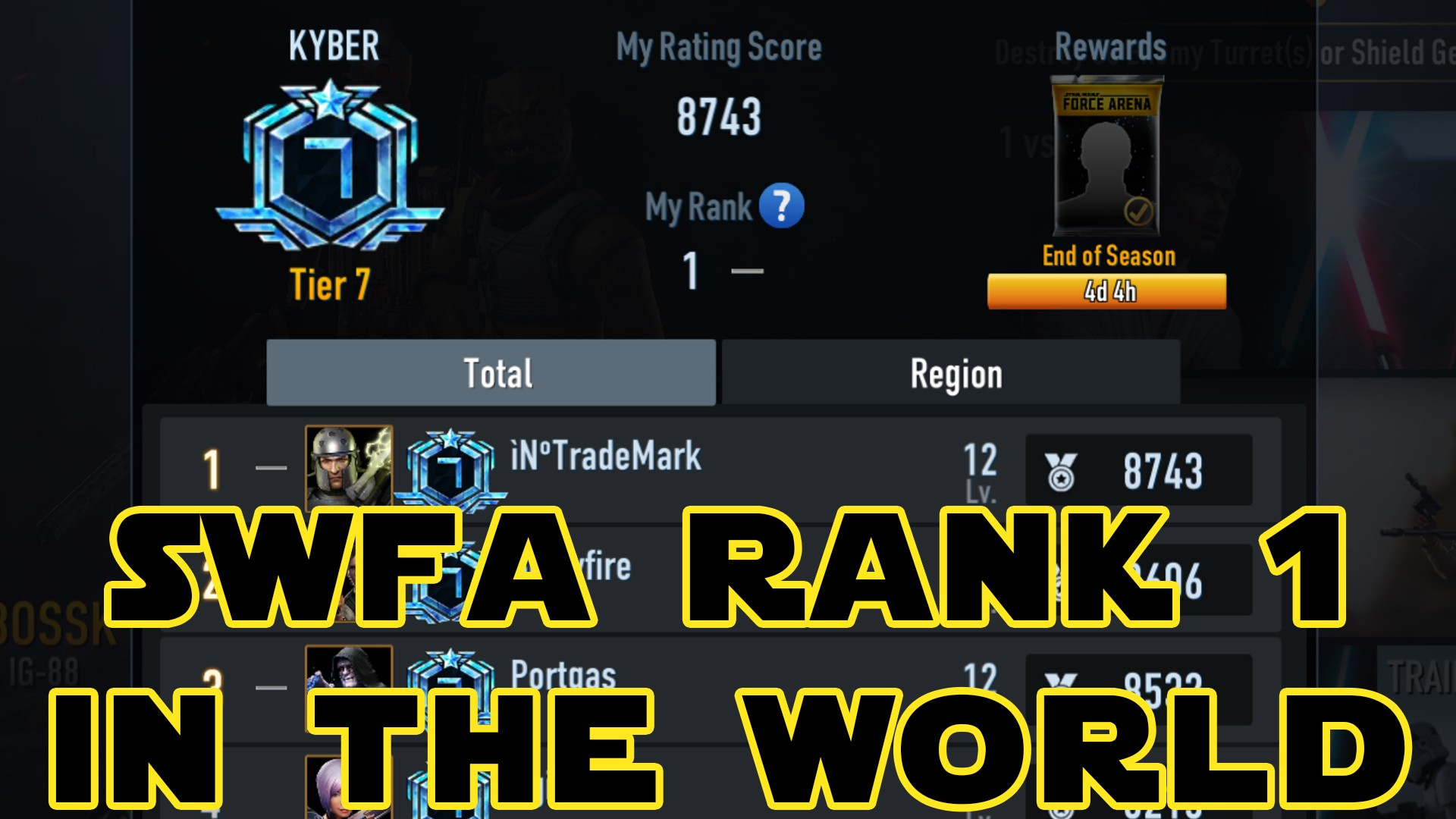 Star Wars Force Arena Rank 1 In The World: oTradeMark